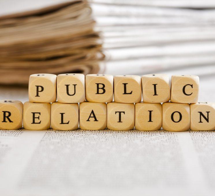 Letter Dices Concept: Public Relations